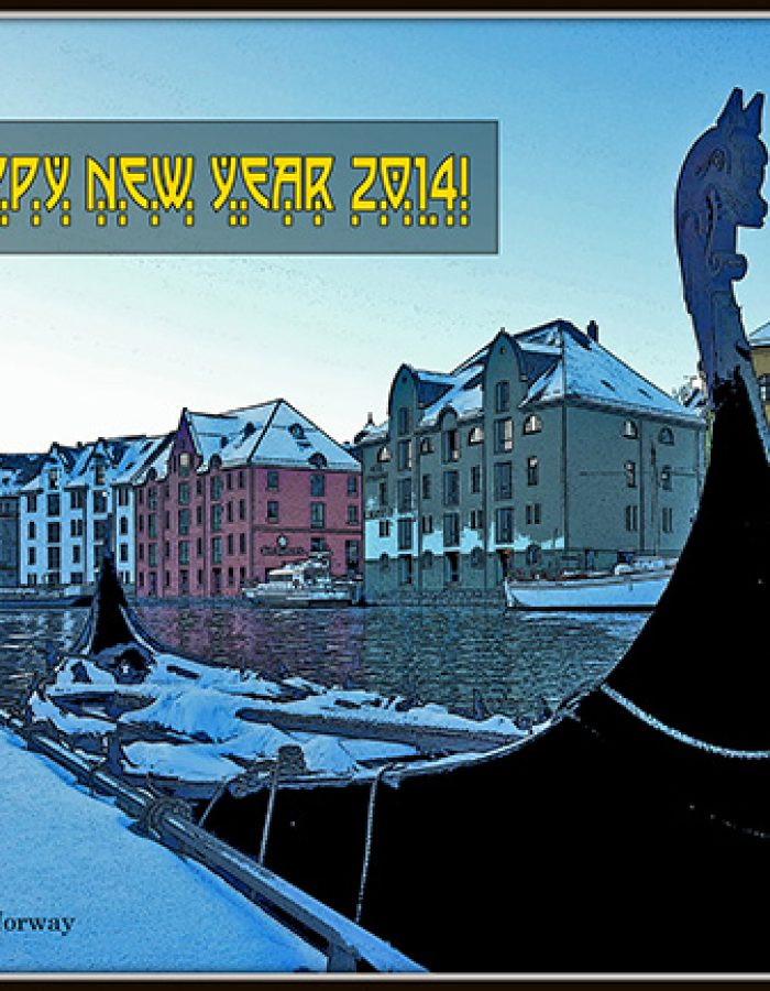 design viking ship new year Ålesund